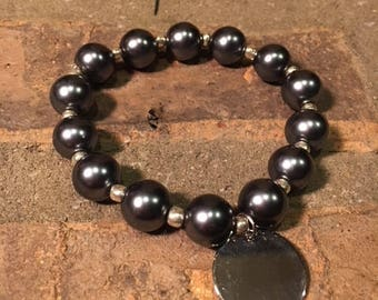 Custom Stretch Bracelet with Charm