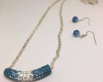 Blue Tube Jewelry Set