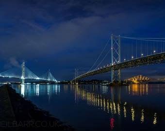 "A4 Print - ""The Three Bridges"" - Fine art landscape photography print"
