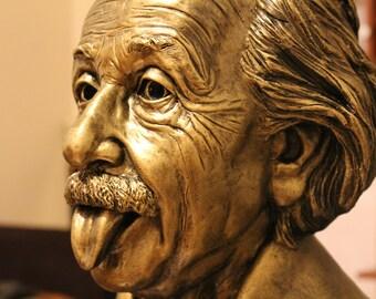 Albert Einstein Bust by Sculptress Anastasiia Gaidar