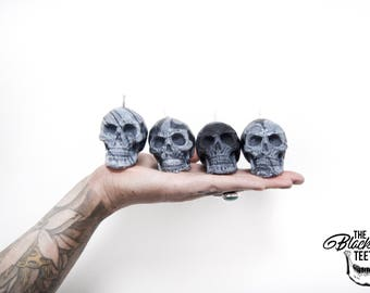 Skull / Soy Wax Candles / Marbled