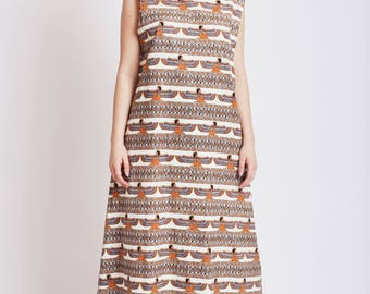 Handmade Cotton Sundress with Egyptian Print