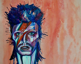 Bowie Portrait A5- limited Edition print (Other sizes available)