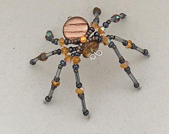 Beaded Spider - Russet Brown