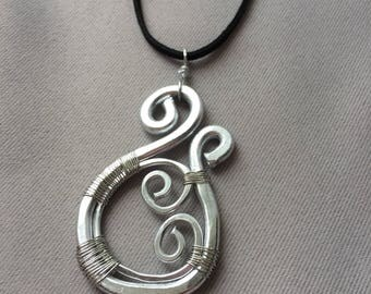 Silver Wire Wrap Necklace