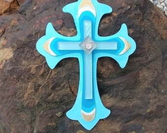 Wooden Decorative Crosses-Hand Painted Cross-Wall Decor-Gift for Her-Easter Gifts-Custom Made Crosses