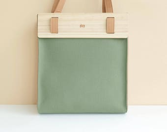 LOGGET Wooden Tote (Olive)