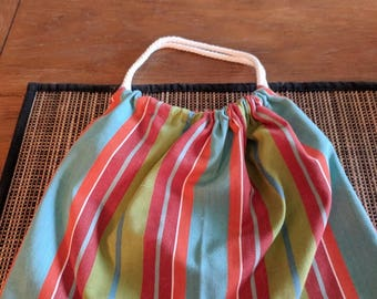 Double Drawstring Linen Bag