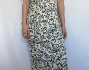 1980's Dawn Joy Fashions Floral Vintage Dress