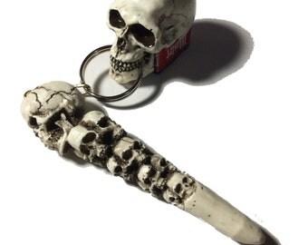 Skull Pocket Chalker Pool Billiards Cue stick 8 9 Ball