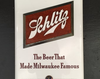 Schlitz Beer Sign