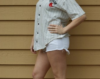 Vintage College Concepts Red Sox Button Down Jersey