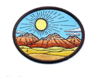 Red Rocks : Embroidered Patch