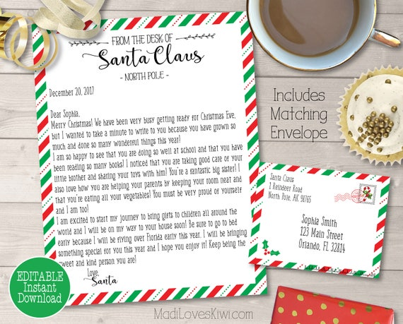 personalized letter from santa customized santa letter