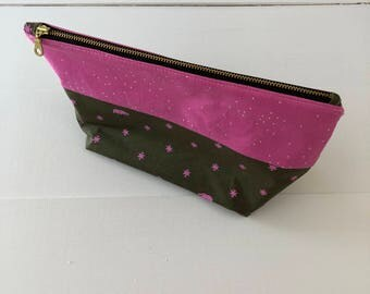 Zippered Pouch - Army Bear