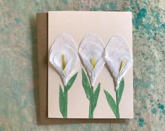 White Calla Lily Card 2017