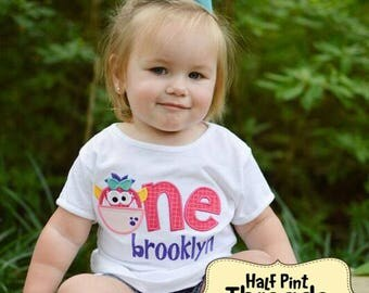 CUSTOM ORDER Monster Themed First Birthday Shirt/Bodysuit Personalized/ Applique/ Embroidery/ Photo Prop