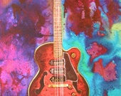 Custom Guitar Painting For Robyn Shirley, Custom Watercolor Painting, One Half Payment