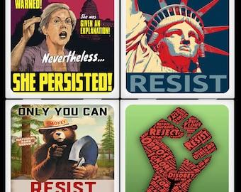 Vive la resistance - Ceramic Coaster Set