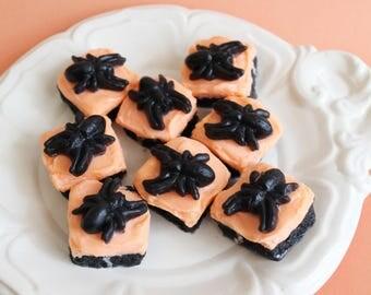 Spider Bites Cake Soap - Halloween Soap, Pumpkin Spice, Spider, Fall Soap, Gag Gift, Soap Favors, Trick or Treat, Fun Soap, Kids Soap, Cake