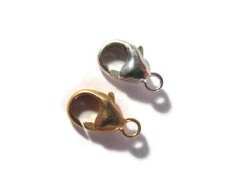 One 11mm Lobster Claw Clasp, .925 Sterling Silver or 14/20 Gold Filled Clasp, Jewelry Findings, Jewelry Supplies (F 118s)
