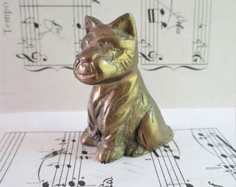 Little Vintage Brass Dog