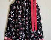 Girls Dress, Pillowcase Dress, Pirate Dress, Pirate Party, Pirate Clothes, Skull and Crossbones, Girls Pirate Dress, Pirate Birthday, Skulls