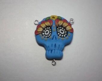 Festive blue Skull, pendant