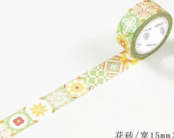 Mosaic Tiles Masking Tape • Tiles Washi Tape (JD-389)