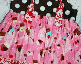 Going out of Business SALE ,Birthday dress, Toddler dress, knot dress,Ready to ship dress, size 12-18M dress, cupcake dress
