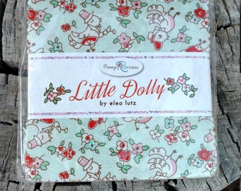 SALE 5 inch charm pack squares fabric LITTLE DOLLY by Penny Rose Fabrics from Elea Lutz