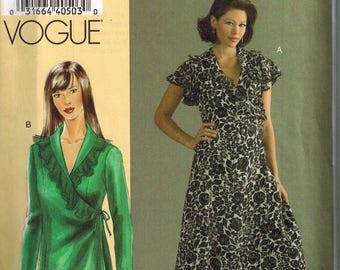 Vogue 8186 Sewing Pattern Wrap dress Verity  Bust 32-34-36 Todays Fit Sandra Betzina