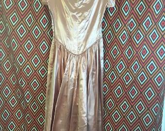 Stellar Vintage Gown Dress Creamy Blush Wedding Party Medium