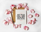 Valentine's Day Card, Anniversary card for him, for her, The first time I saw you, Love card, Husband card, card for him