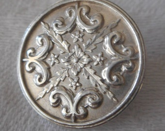 ANTIQUE Silver Signed Spink & Son London Sterling Silver BUTTON