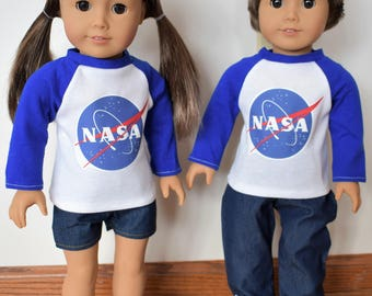 """NASA Outfit for 18"""" Dolls like American Girl and Boy Dolls"""