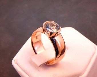 Custom order for Audrey   7mm Round 14K rose gold ring mounting.