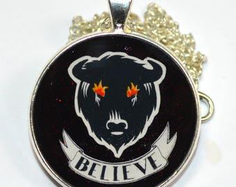 "American Gods Buffalo ""Believe"" Resin Pendant"