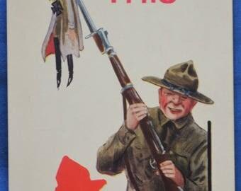 I'll Bring You This WWI Military Propoganda A-S Wall Postcard