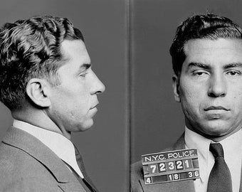 Lucky Luciano Mobster Mug Shot Photo