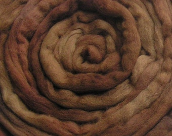 200g Acid Dyed Falkland Wool Top -  Tobacco
