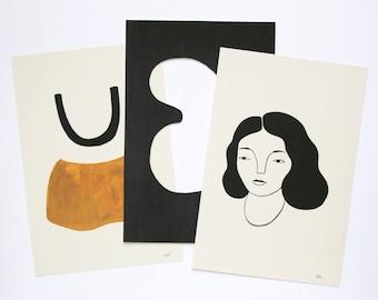 Body Shapes Print Pack — Three Mini 4x6 Prints