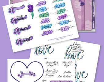 Valentine clipart for the Valentine dibujo Goodnotes planner