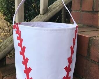 Baseball Easter Bucket~Toy Bucket-Baseball Bag-Monogram included
