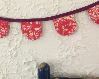 Liberty of London quilted heirloom fabric bunting banner