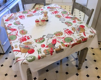 Vintage Broderie BBQ Tablecloth Picnic By The Grill