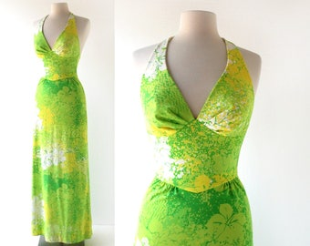Vintage Catalina Dress | Photosynthesis | Swim Dress | 1970s Halter Dress | XXS