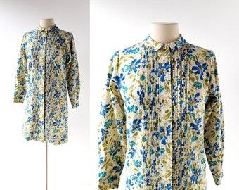 60s Floral Dress | Alpenblumen | 1960s Dress | Small S