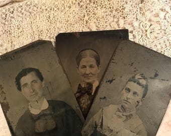 Victorian TINTYPES- Early Photography Antique Photo Melainotype Ferrotype Early Portraits- B25