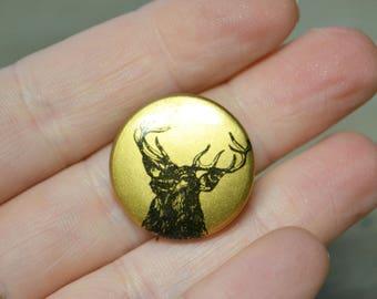 Vintage Elk Pinback Button